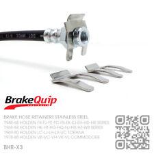 BRAKE HOSE CLIPS STAINLESS STEEL X3 [HOLDEN FX-FJ-FE-FC-FB-EK UTE/VAN/SED/WAG]