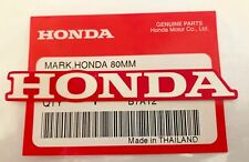 HONDA MARK 80mm WHITE / RED STICKER DECAL STICKER LOGO BADGE 100% GENUINE