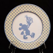 Disney Chef Mickey Mouse Silhouette Stoneware Dessert Salad Plate