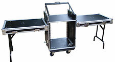 "Mixer / amplifier case - 19"" rack equipment case workstation 16RU"