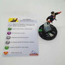 Heroclix Superman set Superboy #017 Uncommon figure w/card!