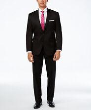 $501 ALFANI men BLACK SLIM FIT 2 BUTTON JACKET BLAZER SPORT COAT SUIT PANTS 42 R