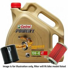 Suzuki GW250 Inazuma 2014 Castrol Power 1 Oil and Filter Kit