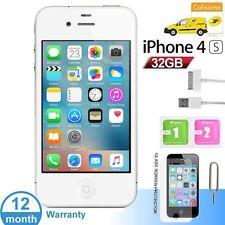 Apple iPhone 4S 32Go Usine DÉBLOQUÉ Téléphones Mobile Blanc Noir FR
