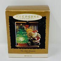 Hallmark Keepsake 1995 Wee Little Christmas Light Magic Ornament Lighted Santa