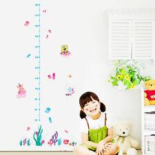 Spongebob Coral Jelly Fish Growth Chart Wall Decals Sticker Kids Nursery Decor