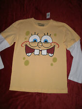 SPONGEBOB SQUAREPANTS YELLOW LAYERED LOOK T SHIRT