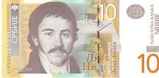 Serbia 10 Dinara. 2011 Pnew Mint Unc