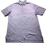 Peter Millar Mens Purple Striped Short Sleeve Golf Polo Shirt Size XL