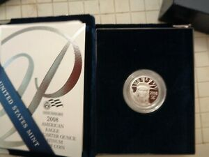 2008 W American Platinum Eagle Proof 1/4 oz $25 in OGP
