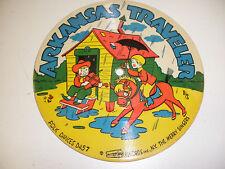 Vintage Childrens Cardboard picture Record-Arkansas Traveler