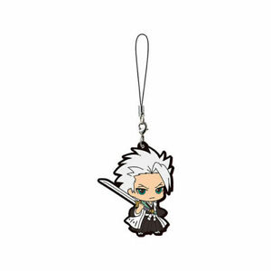 Bleach Mascot Swing Rubber Anime Strap SD Keychain Charm~Toshiro Hitsugaya@27097