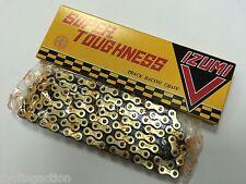 """Izumi V Super Toughness Gold/Black Track Bike Chain 1/2""""x1/8"""" NJS Keirin Approve"""