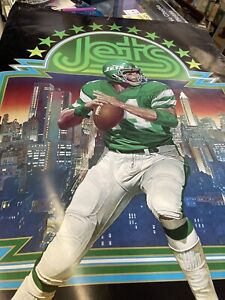 "JETS NFL 1978 poster used fair 24""+36"""