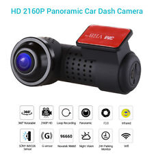 Panoramic F2.0 HD 2160P WiFi Car Video Recorder Night Vision 24H Parking Monitor
