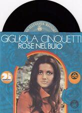 GIGLIOLA CINQUETTI ROSE NEL BUIO SANREMO UNIQUE LAB 1971 RECORD YUGOSLAVIA 7' PS