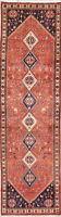 Geometric One-Of-A-Kind Abadeh Oriental Tribal Runner Rug Wool 3'x10'