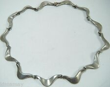 VINTAGE SIGNED SIGI PINEDA MEXICAN  SILVER MID 1950'S MODERNIST NECKLACE