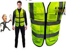 Hi-Vis Safety Vest Uniforms Work Top Cloth Reflective Jacket Security Waistcoat