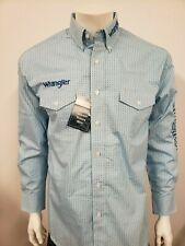NWT Wrangler Blue Logo Rodeo Embroidered Long Sleeve.(M) Shirt