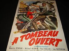 A TOMBEAU OUVERT checkpoint ! affiche cinema cars auto course automobile 1956