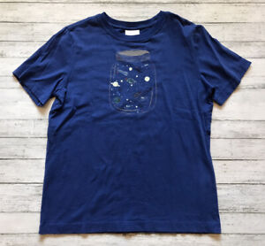 Hanna Andersson Blue Space Jar Shirt 140 Cm 10 Y