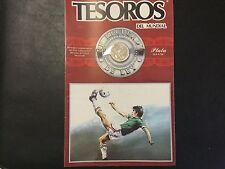 1986 MEXICO SILVER COIN - MUNDIAL 86 IN ORIGINAL PACKAGE - 25 PESOS !