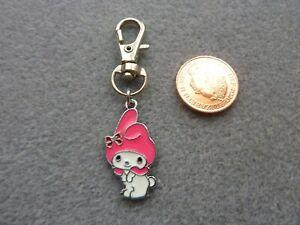 My Melody Kawaii Cute Bunny Keyring Keychain Enamel Bag Charm Birthday Gift