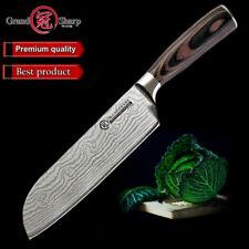 7''Santoku Chef Knife Stainless Steel Knife Damascus Laser Pattern Kitchen Knife