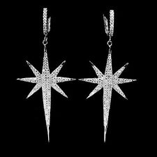 Leverback Diamond Lab-Created Fine Earrings