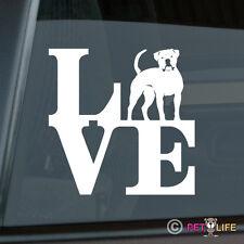 Love American Bulldog Sticker Die Cut Vinyl - park bully
