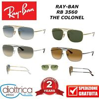 RAYBAN RB 3560 THE COLONEL RAY-BAN UOMO DONNA POLAR OCCHIALE DA SOLE SPECCHIO