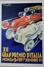 XII GRAN PREMIO D'ITALIA HAND PULLED LITHOGRAPH NUMBERED 511 W/COA