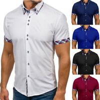 Fashion Mens Slim Fit Short Sleeve T-Shirt Casual Shirt Tops Blouse Muscle Tees