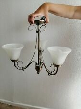 Brushed Antique brass effect 3 Lamp Ceiling light,