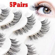 Hot 5Pairs Beauty Wispies Natural Long Thick Soft Fake False Eyelashes Handmade