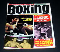 INTERNATIONAL BOXING  MAGAZINE OCTOBER 1974 ALI-FRAZIER