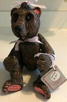 "1994 Unique Bear by Pat Kolesar Signed 9"" Jointed Made from Nut Shells HTF! 4/50"