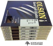 """Olson Flex Back Band Saw Blades 80"""" inch x (5) Widths Set, Craftsman 137.224320"""