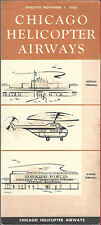 Chicago Helicopter Airways system timetable 11/1/56 [6071]