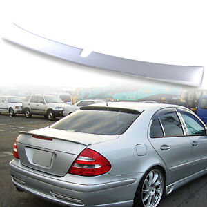 Painted Roof Spoiler For Mercedes Benz E-Class W211 4Dr L Style Silver 744 03-05