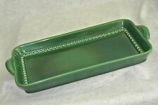 """Mid Century Ernest Sohn/Red Wing Pottery Green Majolica 14"""" Tray/Butter Mold?#1"""