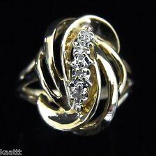 Estate Diamond & 14k Yellow Gold Ring Beautiful Design Gift