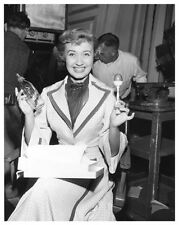JANE POWELL great still on set showing baby bottle and rattler - (c555)