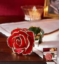 * Dura Rose Gold Flower in Box w/stand Beauty & Beast *