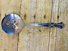 VINTAGE  OLD COMPANY PLATE SILVER PLATE PIERCED CRANBERRY SAUCE SERVING SPOON