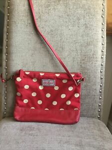 Cath Kidston small red polka dot red Canvas Shoulder bag