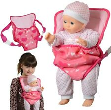 More details for the new york doll collection baby doll carrier backpack fits up to 51 cm dolls