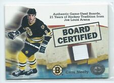 2001-02 Fleer Greats of the Game Cam Neely Board Certified GU BOARD RELIC BRUINS