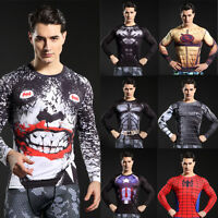 Men Compression 3D Printed T-shirts Thermal Gym Tops Short Sleeve Sports Jersey